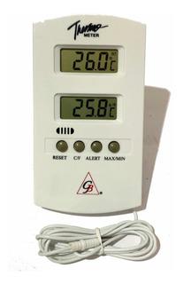 Termómetro Digital Con Cable Sensor Interior Exterior