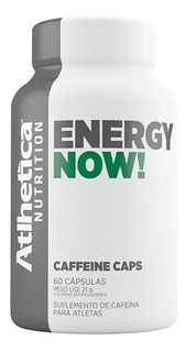 Energy Now Caffeine Caps - 60 Caps - Atlhetica Nutrition