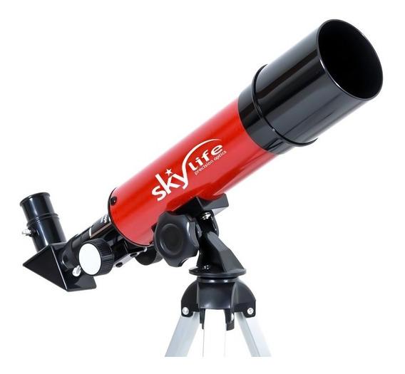 Luneta Telescópio Skylife Refrator Novice 60x + Tripé - Skylife Marca Especialista Em Produtos Astronômicos