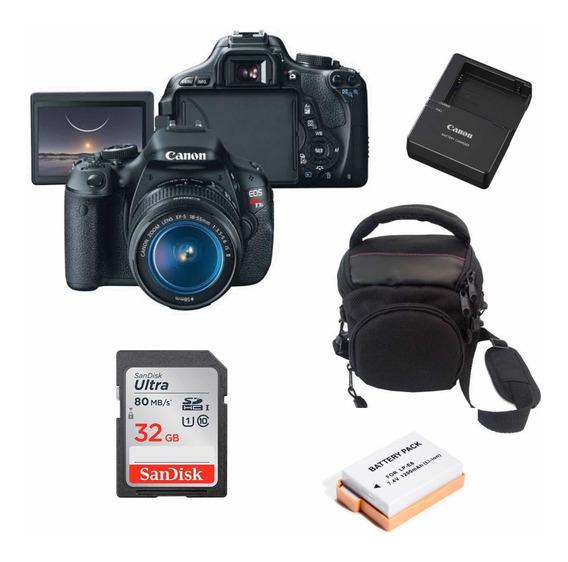 Câmera Canon T3i 18-55mm Novinha Cartão+bateria+case
