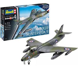 Aviao Hawker Hunter Fga.9 1/72 Kit Revell Plastimodelismo