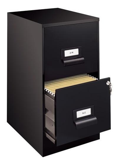 Archivero Vertical De 2 Gavetas Hirsh 13679 Color Negro