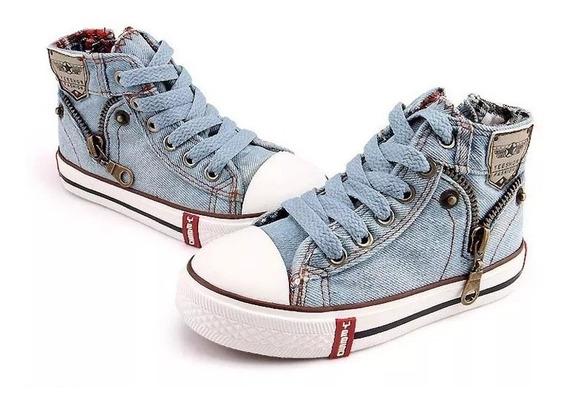 Sapato Cano Médio Denim Unissex Importado Ref775