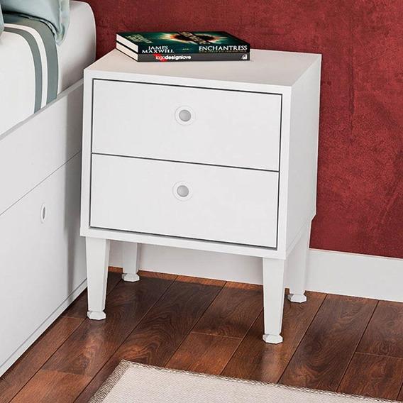 Quarto Casal Cama Com Criados Mudos Tókio Cj014 Art In Móveis - Branco