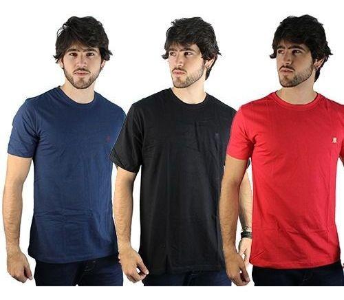 Kit 3 Camisetas Masculinas Polo Wear 000043912
