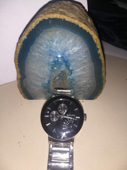 Relógio Bulova 96c105 Preto Aço Inox Original Tempo Limitado