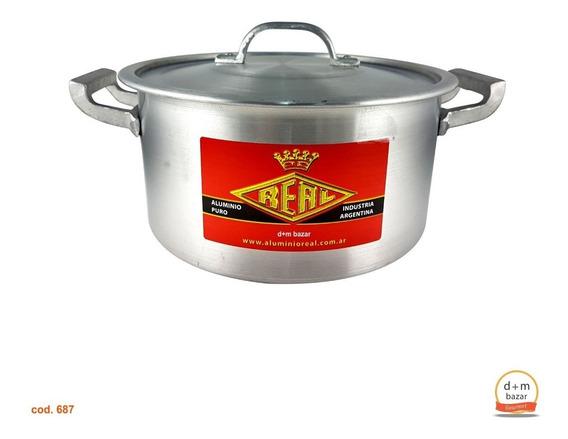 Cacerola De Aluminio N° 22 Gastronomica Capacidad 4 Litros