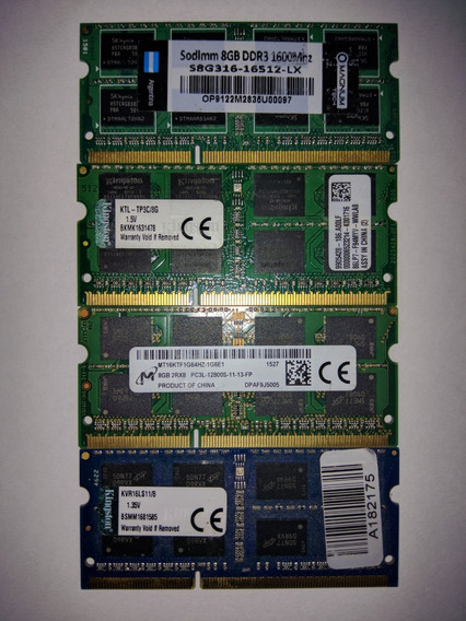 Memoria Notebook Apple Macbook Pro, Ddr3, 8gb, 1.5v, 1600mhz