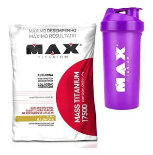 Hipercalórico Mass 17500 1,4kg - Max + Shaker Brinde