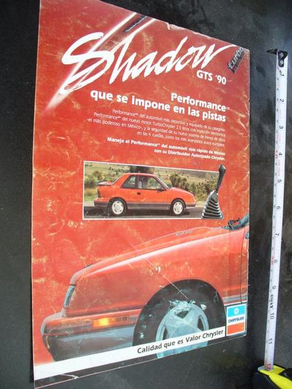 Publicidad Dodge Shadow Gts 90 Autos Mopar Revista Vintage