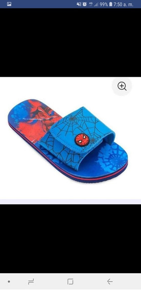 Chancletad Spider Man De Disney Store Original Y Pantera Neg