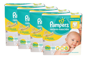 Kit Fralda Pampers Extra Suave Rn Plus 80 Uni. 3 Á 6kg