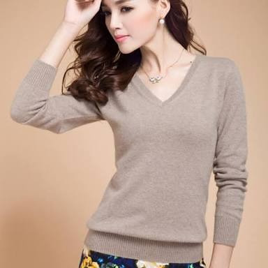 Sueter, Sweater Para Dama Basico Cuello V