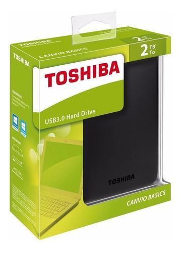Disco Duro Externo Toshiba 2tb, Usb 3.0,black Envio Gratis