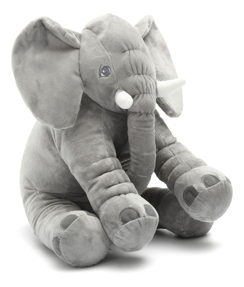 Elefante De Peluche De Felpa Suave Almohada 40cm Bebé