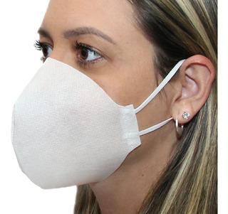 Mascara Cirurgica Descartavel Dupla Proteção Kit Com 10 Unid