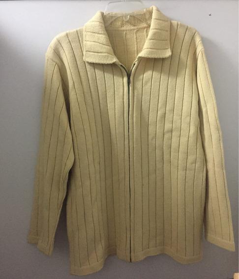 Saco Sweater Cardigan De Lana Con Cierre!