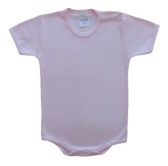 Kit Com 3 Body Bebê Manga Curta Algodão 1 - 2 - 3 Anos