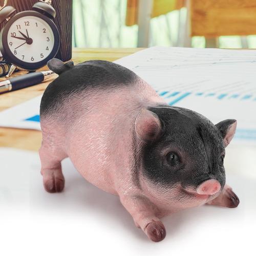 Estatueta Porco Animais Resina Para Jardim/pátio