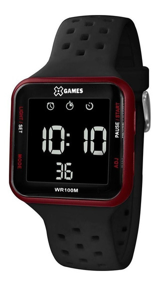 Relógio X-games Feminino Preto Quadrado Digital Xgppd101