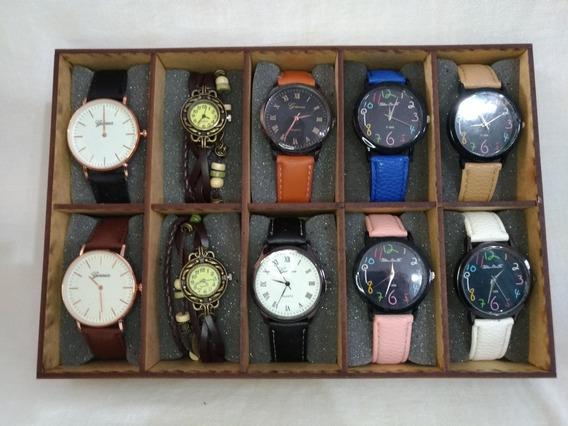 Relógio Feminino Barato Revenda Kit 10 Promoção Fim De Ano