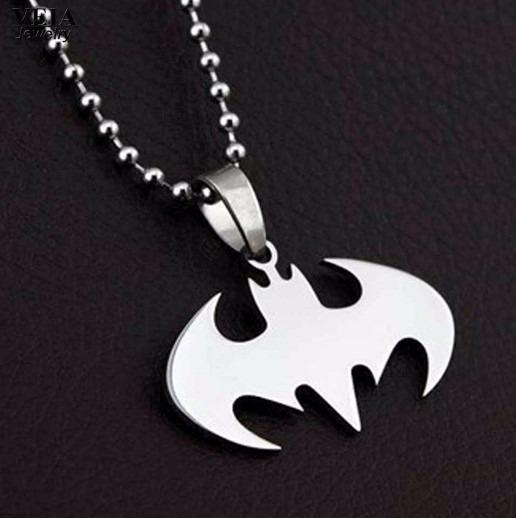 Colar Pingente Aço Batman Unissex