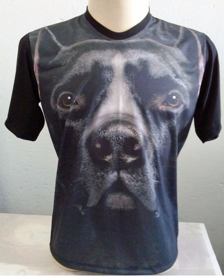 Camiseta, Regata, Baby Look - Animal, Cachorro, 3d- Pit Bull
