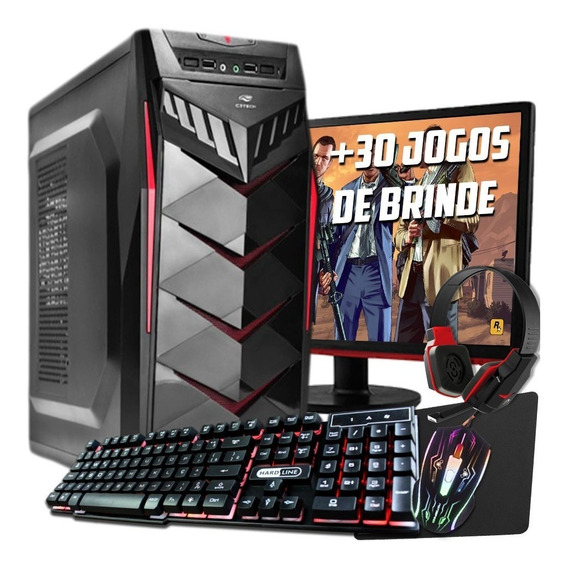 Pc Gamer Completo I3, 8gb, 500gb, Radeon 2gb, Promoção!