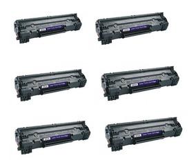 Kit Com 6 Toner Compativel 85a P/ Impressoras 1102w/1132w//