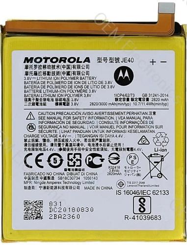 Pila Batería Moto One - Motorola Xt1941 (je40)