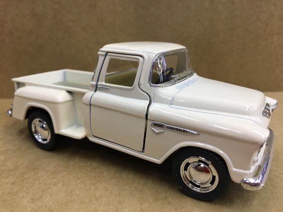 Miniatura Chevy Stepside Pick-up 1955 Branca