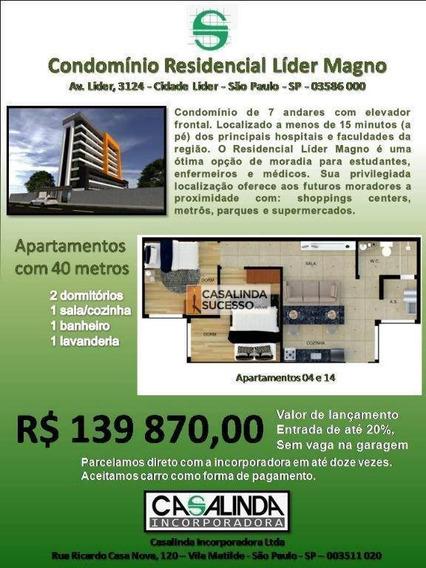 Studio Com 2 Dormitórios À Venda, 40 M² Por R$ 139.870 - Itaquera - São Paulo/sp - St0029