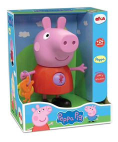Boneca Peppa Pig 25 Cm Original Pepa Elka
