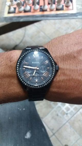 Relógio Pulso Aço Negro