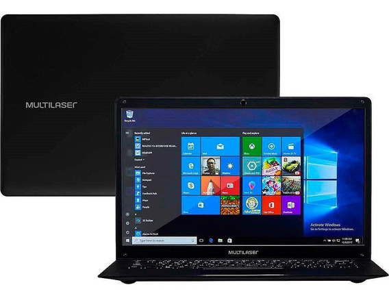 Notebook Multilaser Intel Core X5-z8350 2gb 64gb Pc107 Mini Hdmi Usb Windows 10 Original Garantia Oferta Loi Brasil