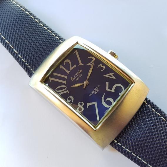 Relógio Activa Cuadro Sl052-005 Swiss Movement