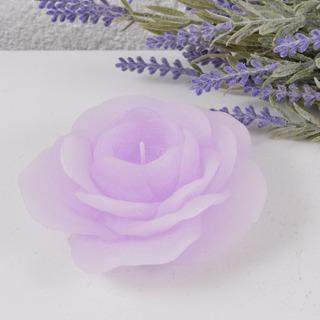 Caixa 3 Peças Vela Flutuante Flor Lilás Claro Para Eventos