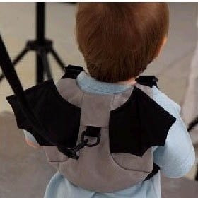Mochila Guia Coleira Segurança Infantil Bebe Batman