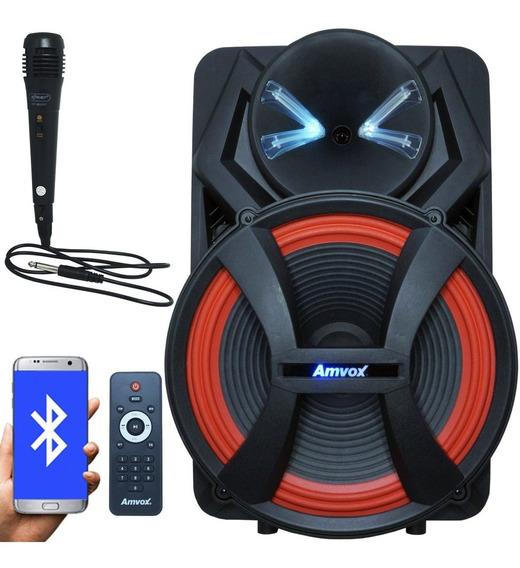 Caixa Som Amplificada Portátil Bluetooth 900w Rms Led Usb Bateria Tws Aca 900 X Dezoitão Microfone