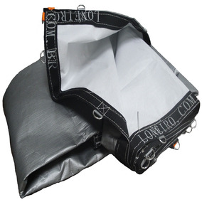 Super Lona Branca Prata 10x6 Pppe 500 Micra Com Argolas Inox