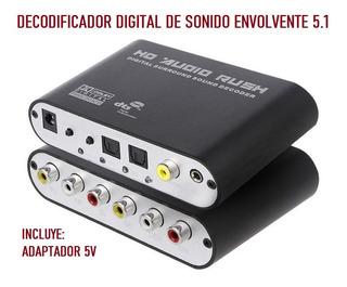 Decodificador Convertidor Audio Optico / Coaxial A 5.1 Rca