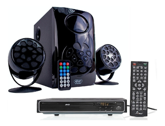 Home Theater 2.1 Com Dvd Knup D112 + Micro System Knup 6024
