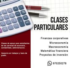 Clases Particulares De Economía Y Finanzas