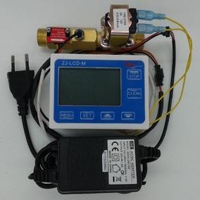 Hidrômetro Dosador Água Quente Termômetro Digital Metal 1/2