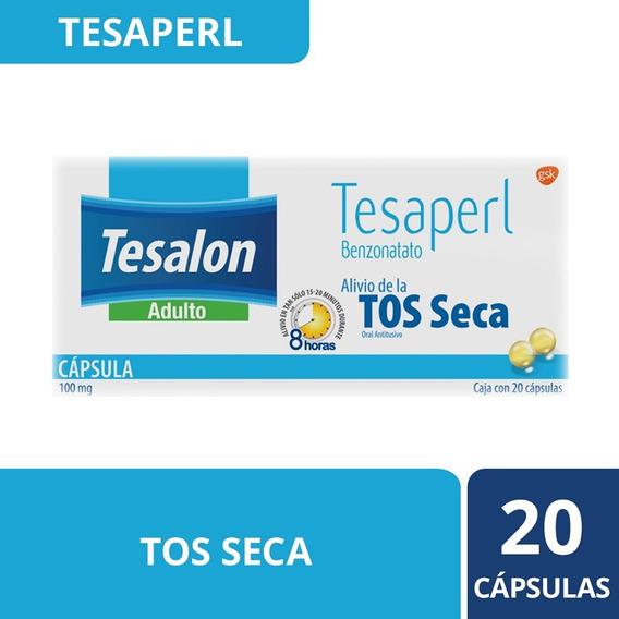 Tabletas Para Tos Seca Tesaperl 20 Unidades Tesalon