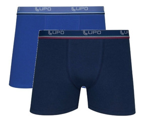 Kit 10 Cuecas Box Lupo Algodão Boxer Masculina Adulto Coton