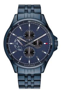 Reloj Tommy Hilfiger Hombre Shawn 1791618 Acero Azul