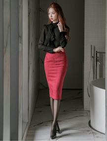 Conjunto Falda & Camisa Fashion Elegante Oficina Cocktail
