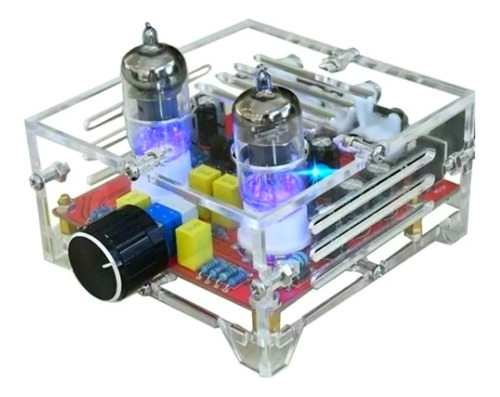 Imagen 1 de 7 de Kit P/armar Preamplificador Valvular De Audio + Gabinete