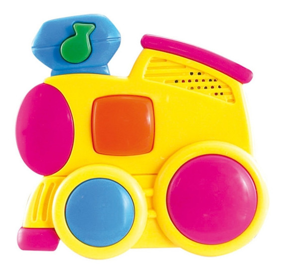 Baby Trem Brinquedo Musical Para Bebês Cores Sortidas